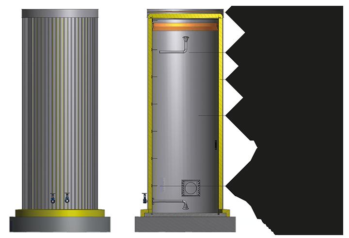 Diagram of Lipp buffer storage tank