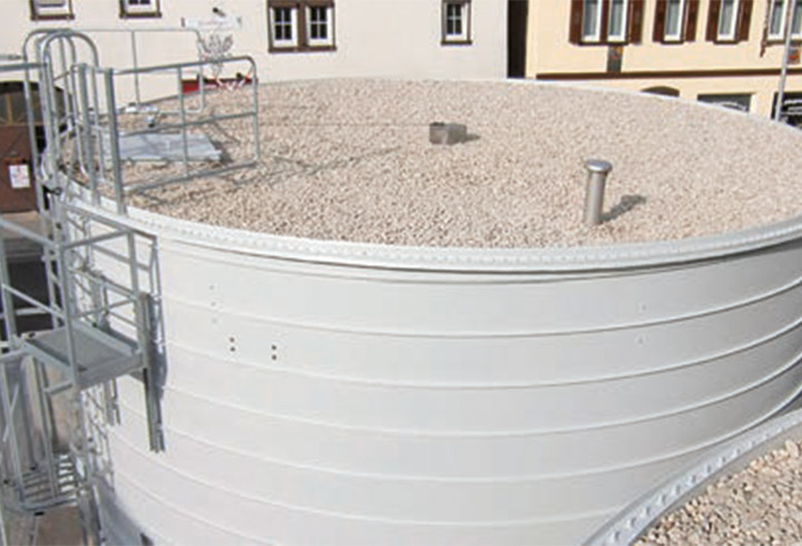 LIPP stainless steel diaphragm roof cover