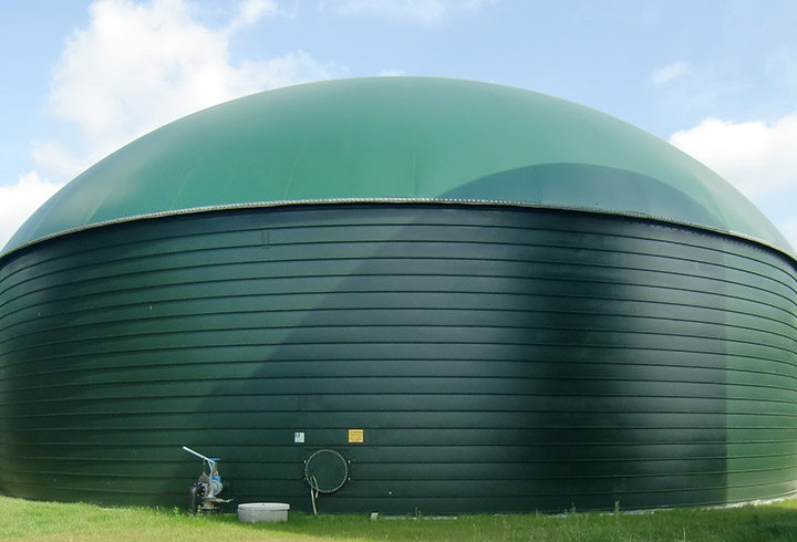 Lipp Eco Digester with double diaphragm roof