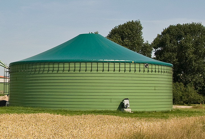 EcoDigester double-skin roof