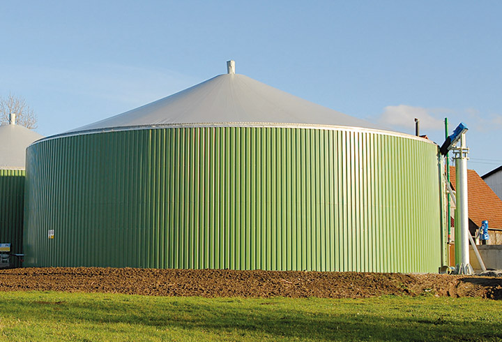 Eco Digester with single skin roof