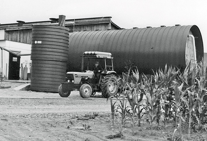 Horizontal digester from the 1970s