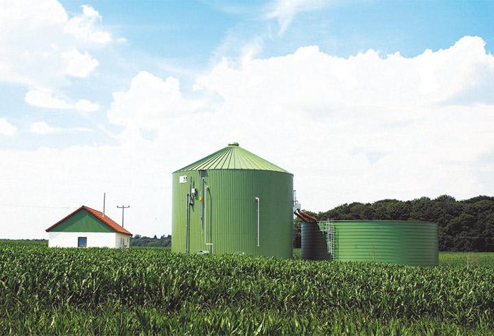 Landwirtschaft Biogasanlage, Biogas - Lipp System