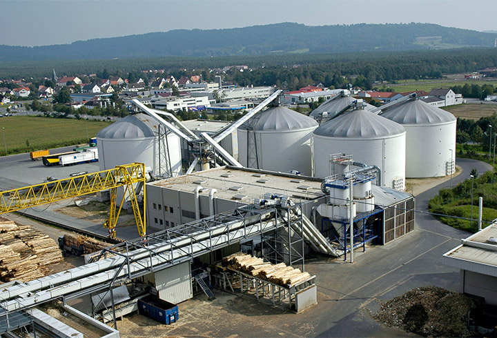 Industrial Silos for woodchips storage