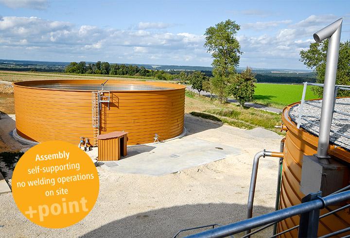 LIPP liquid manure container with 2000 m3 volume